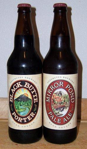 Deschutes Mirror Pond Pale Ale and Black Butte Porter