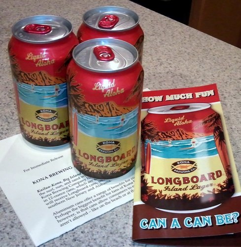 Kona Brewing Longboard Lager in cans