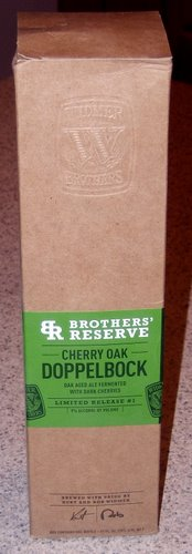 Widmer Cherry Oak Doppelbock in the box