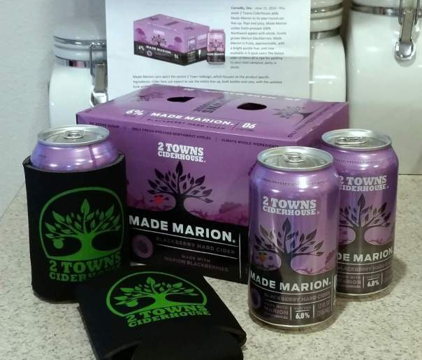 Received: Cans of Made Marion cider
