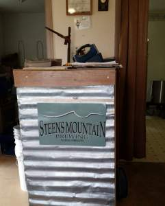 Steens Mountain tasting room bar