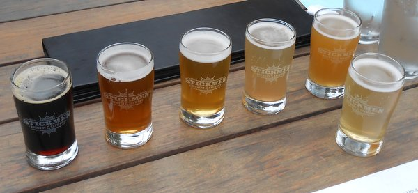 Stickmen Brewery samples
