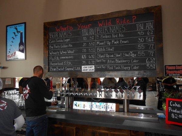Wild Ride beer board
