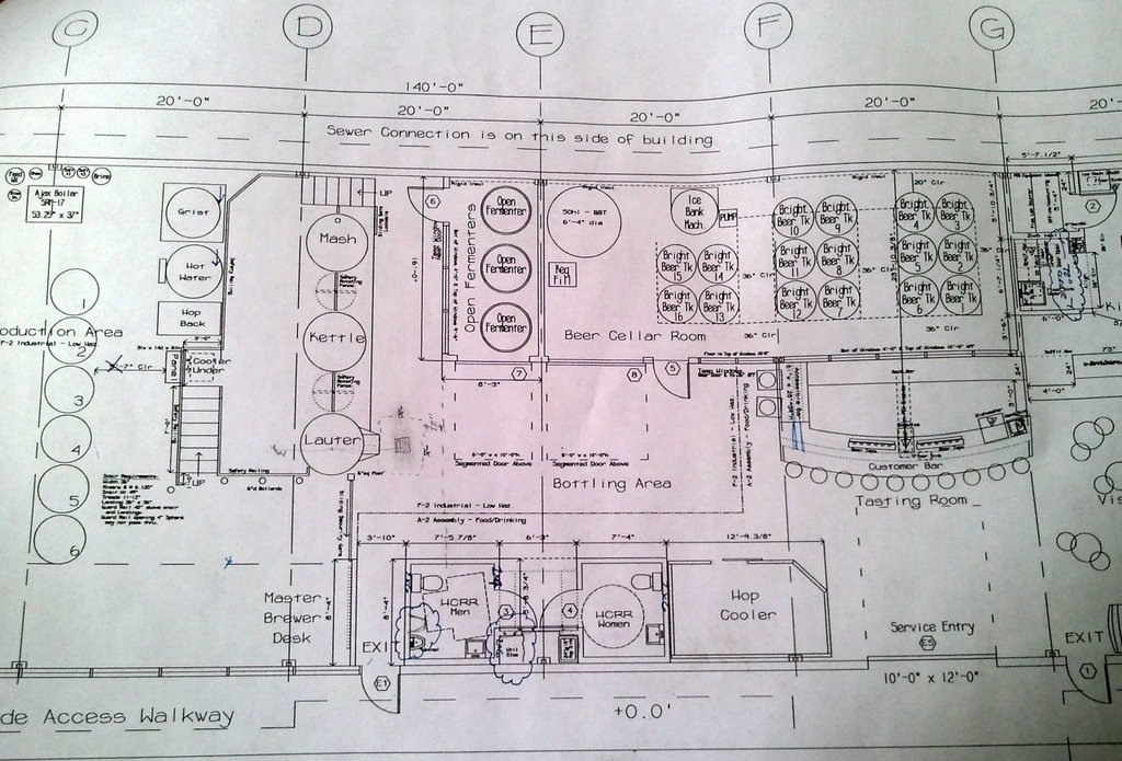 Yet to be named brewery is crux fermentation project for Brewery floor plan