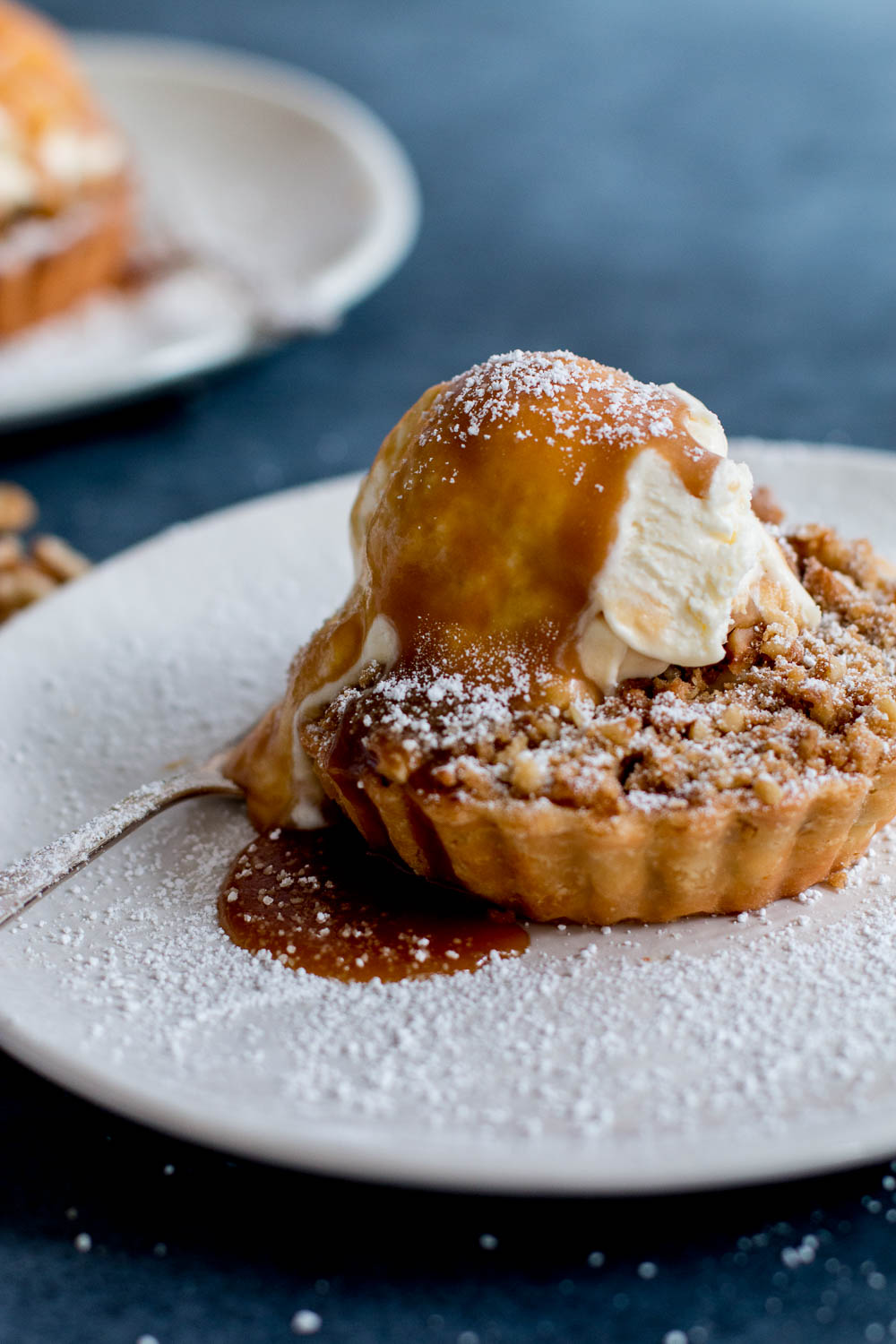 Apple & Walnut Crumble Tarts with Miso Butterscotch Ice ...