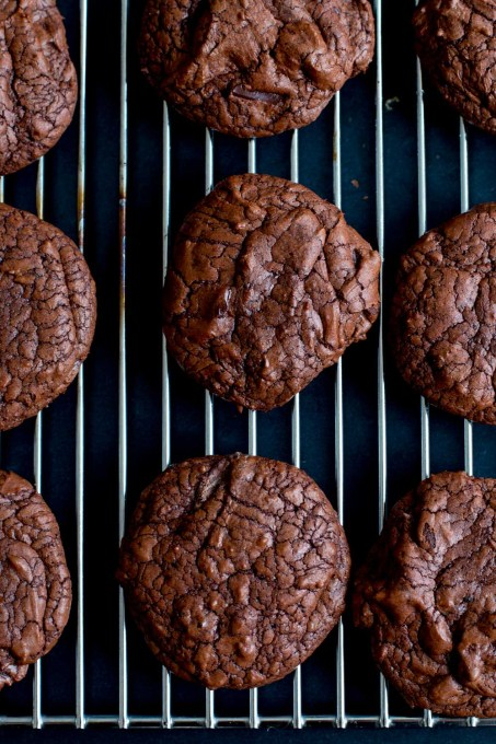 Chocolate & Whipped Salted Caramel Brownie Cookies