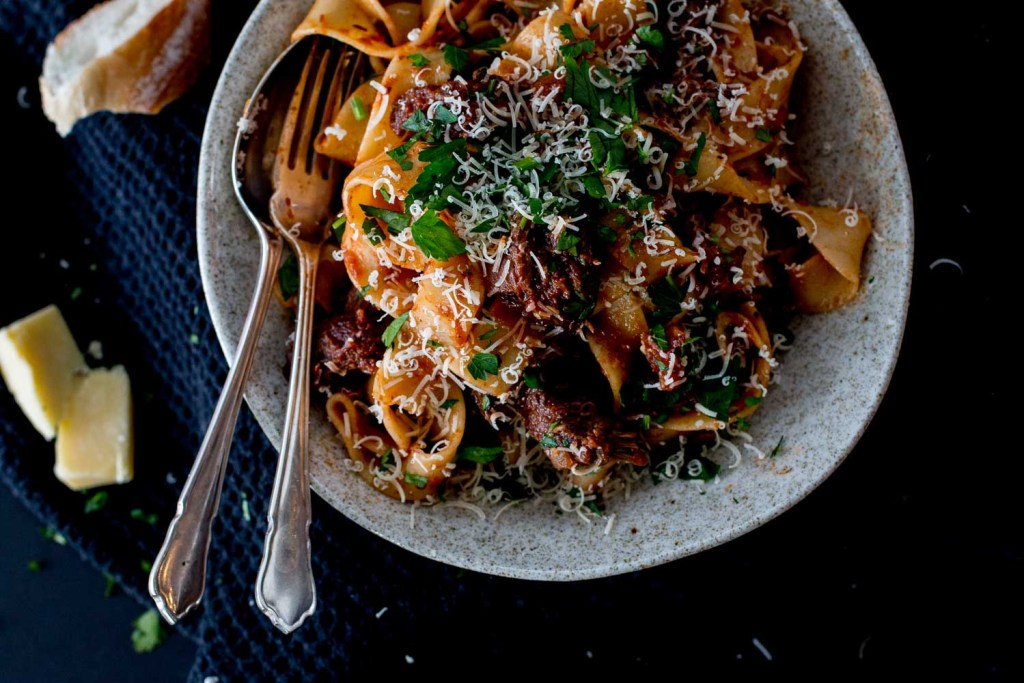 Slow Braised Beef Cheek Ragu with Parpadelle