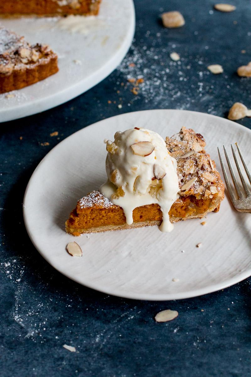 Carrot, Ginger & White Chocolate Tart with Whisky Ginger ...