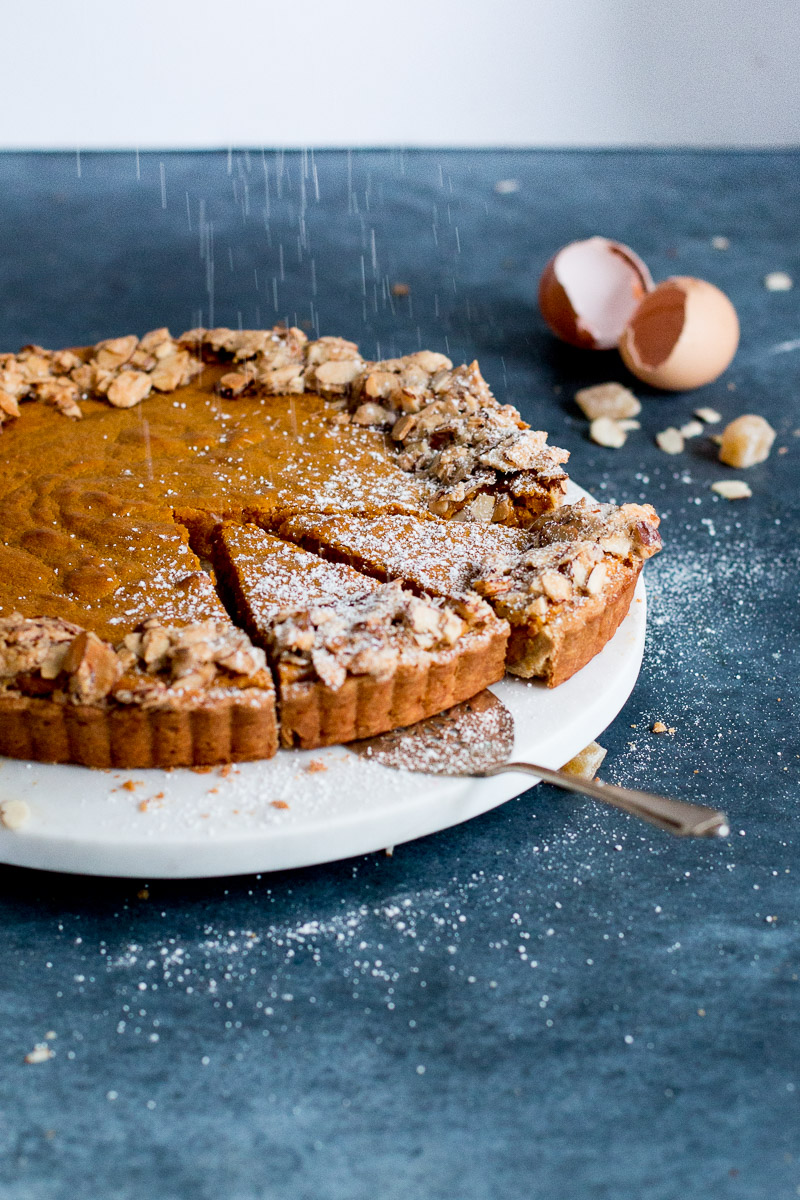 Carrot, Ginger & White Chocolate Tart with Whisky Ginger ...