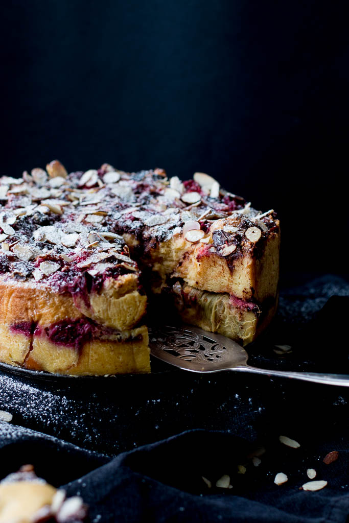 Fruit Cake Bread And Butter Pudding