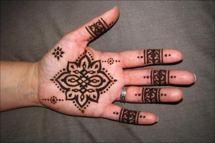 Mehndi For Thumb : Circle mehndi designs top round