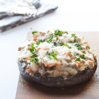 Wild Rice Casserole Stuffed Mushrooms