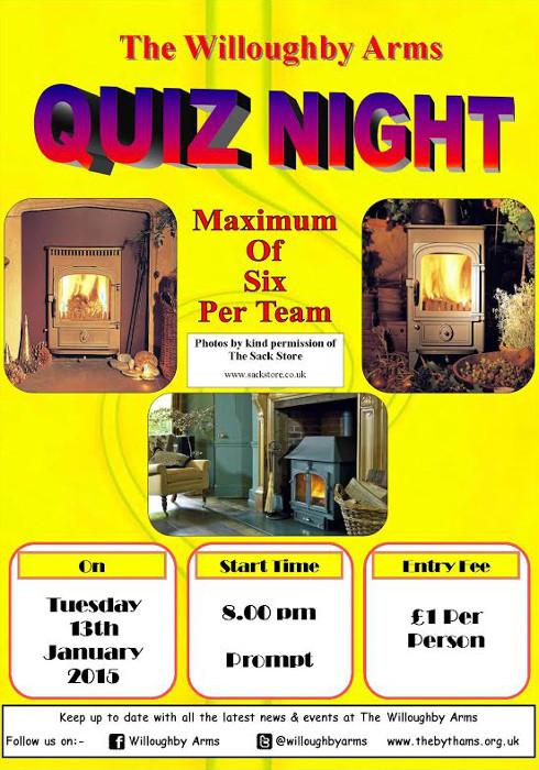Pub quiz poster (13-01-2015)
