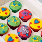 Individual party bag cup cakes and a special gluten-free one for Oma