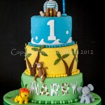 1st birthday Pirate and Jungle cake