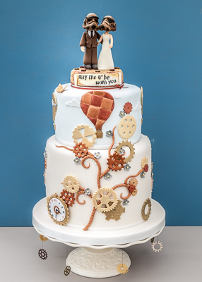 Steampunk wedding cake - May the 4th be with you!