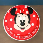 3-D Minnie mouse birthday cake.