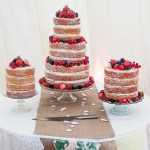 Summer fruit naked wedding cakes