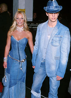 Britney Spears and Justin Timberlake Wearing Denim