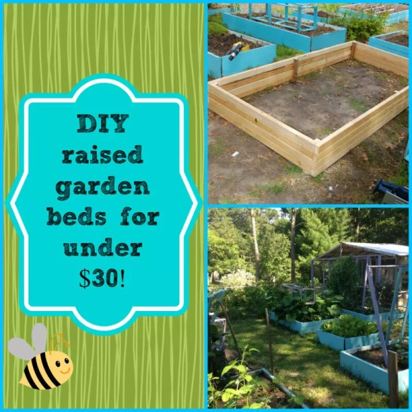 DIY raised garden beds for under $30!