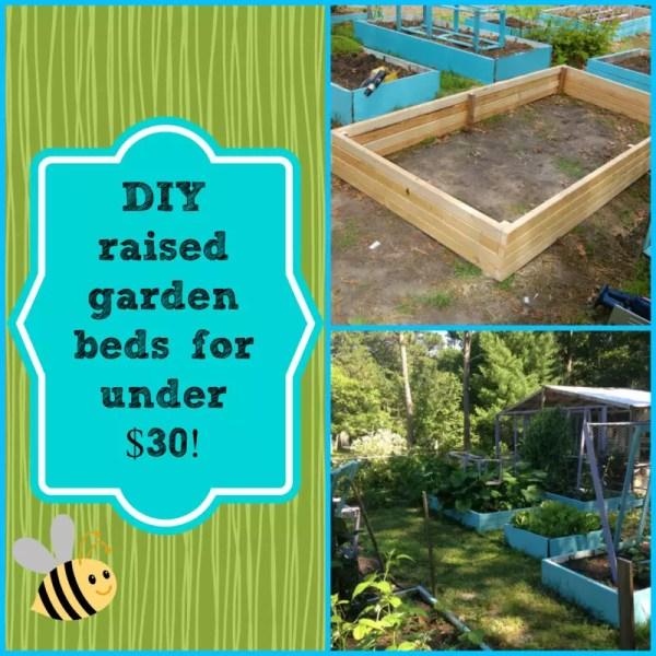DIY raised garden beds for under $30!