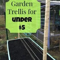 Make a garden trellis system for under $5!!
