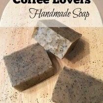 Do you LOVE coffee?  So does your skin!  Check out my recipe for all natural coffee soap!
