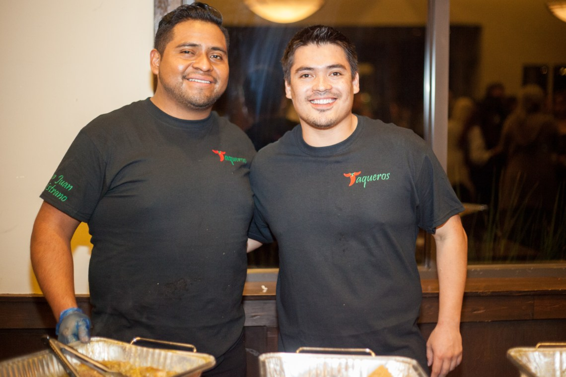 Taqueros Mexican Restaurant owners Gustavo Lezama and Jessa Ceja served chile verde pulled pork. Photo: Alex Paris