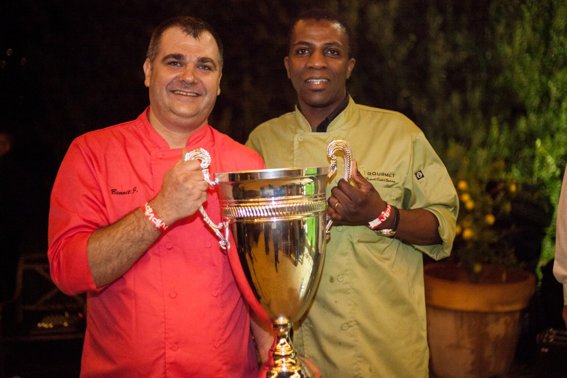 Ô Gourmet French Café & Bakery co-owners and chefs Benoit Jussaume and Eric Djomby won the Swallow's Cup for the second consecutive year. Photo: Alex Paris