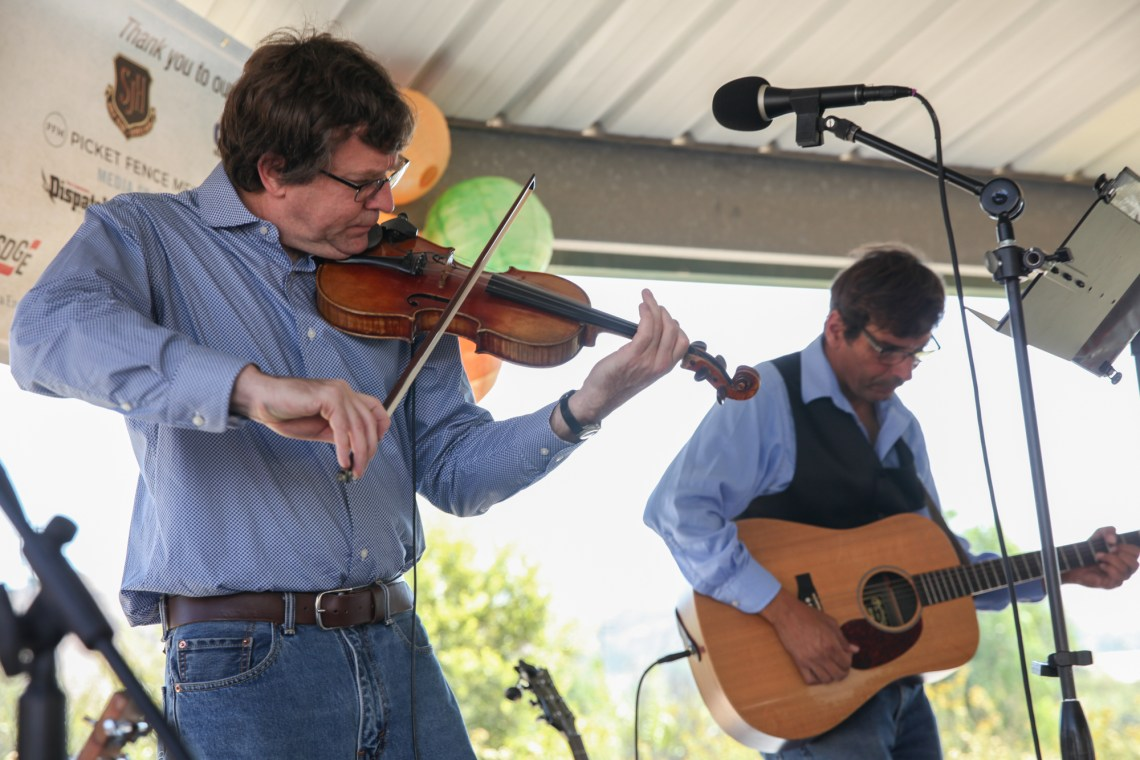 Sweetwater Creek performs bluegrass music during Fall Fest at Reata Park on Oct. 15. Photo: Allison Jarrell