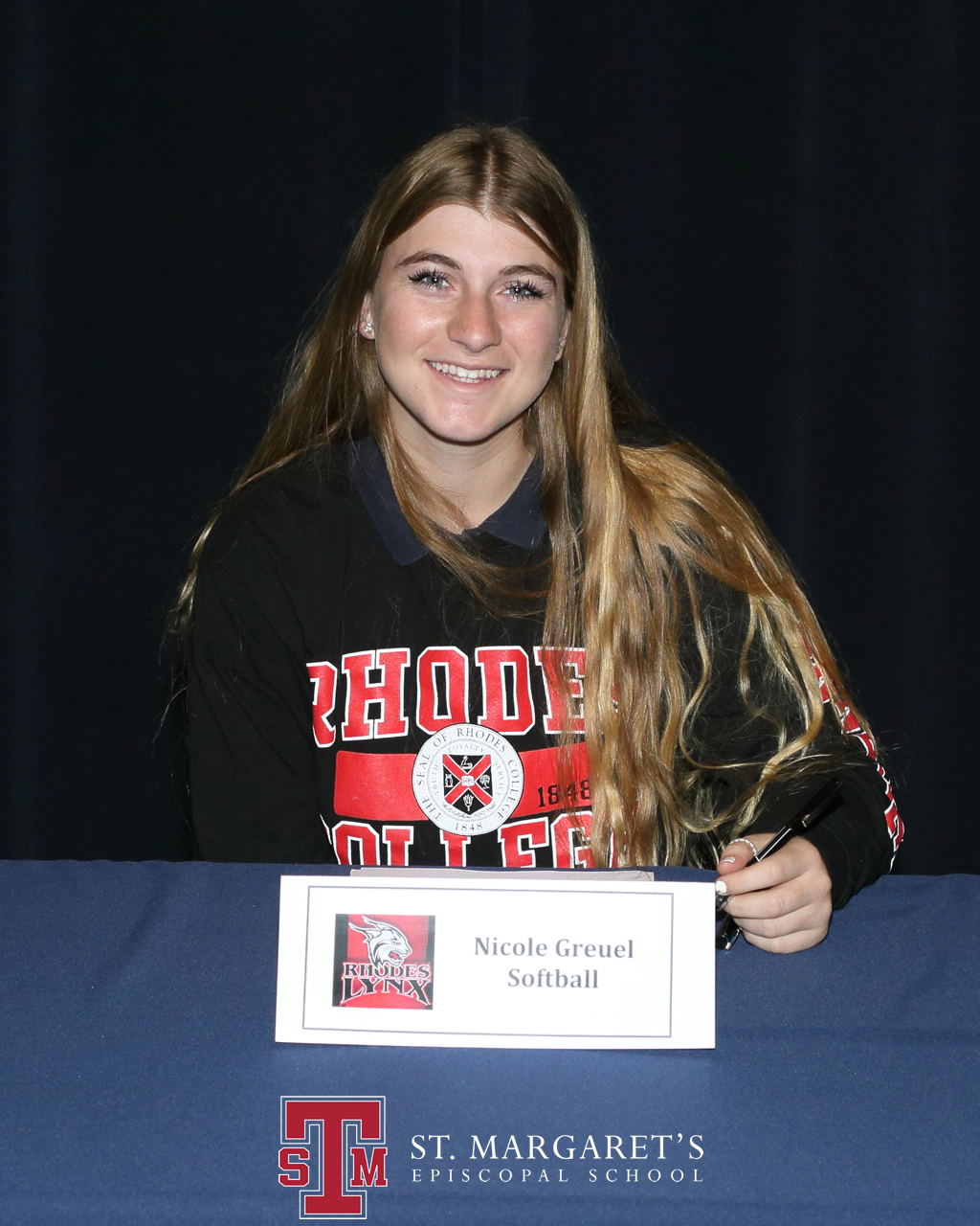 Nicole Greuel will play softball for Rhodes College. Photo: Courtesy