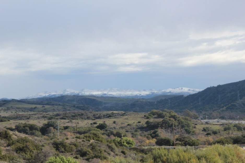 Snow fell on the mountains south of San Clemente in 2015. Photo: File/Jim Shilander