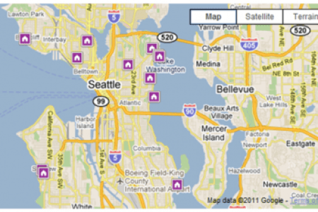 Map Of Seattle Area - Map puget sound area
