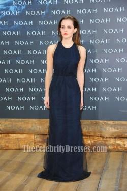 Startling Emma Watson Navy Backless Prom Dress Noah Premiere Emma Watson Navy Backless Prom Dress Noah Premiere Blue Dress Outfit Blue Dresser