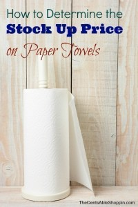 Stock Up Paper Towels