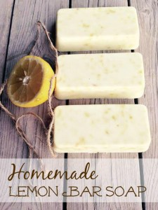 Homemade Lemon Bar Soap
