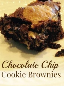 Chocolate Chip Cookie Brownies ~ TheCentsAbleShoppin.com