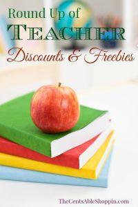 Round up of Teacher Discounts & Freebies