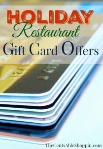 Holiday Gift Card Offers