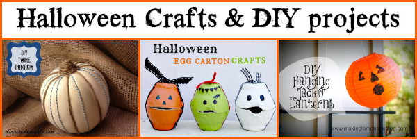 Halloween Crafts and DIY Projects banner