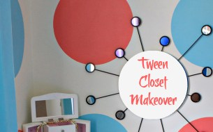 Fashion Bar and Polka Dot Closet Makeover