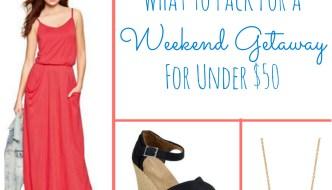 Budget Friendly Weekend Getaway Looks & Packing Tips
