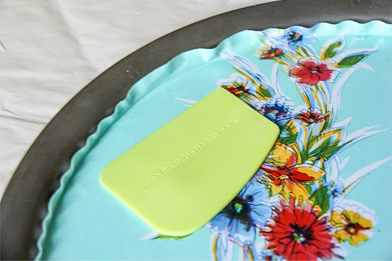 oilcloth serving tray craft