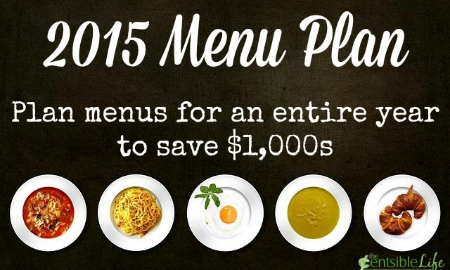 2015 Menu Plan: Save $1,000s with Menu Planning