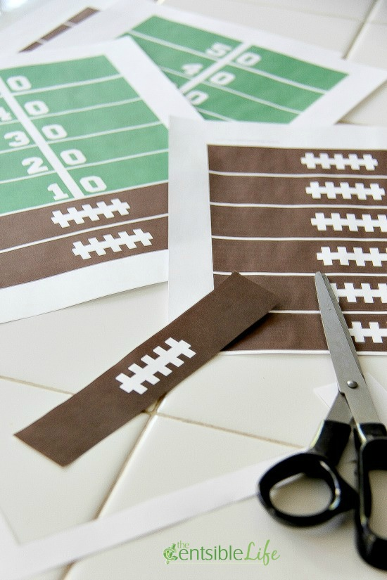 Cut Game Day Paper Chains