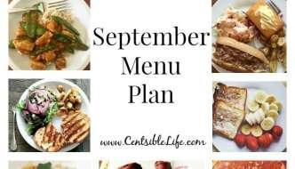 September Menu Plan