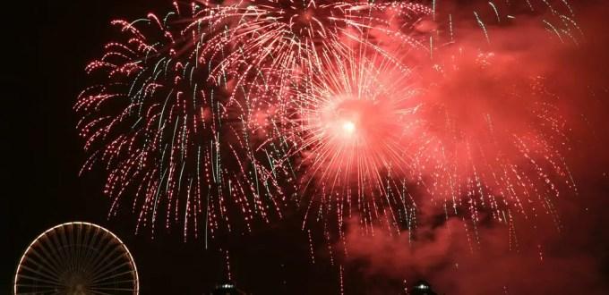 fireworks on Navy Pier in Chicago