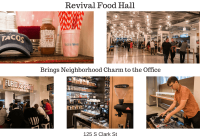 Revival Food Hall collage