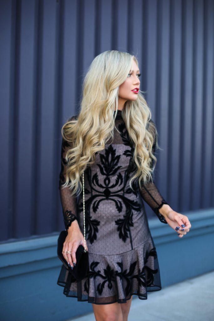 Stephanie-Danielle-TheCityBlonde-Black-Lace-Dress-6622