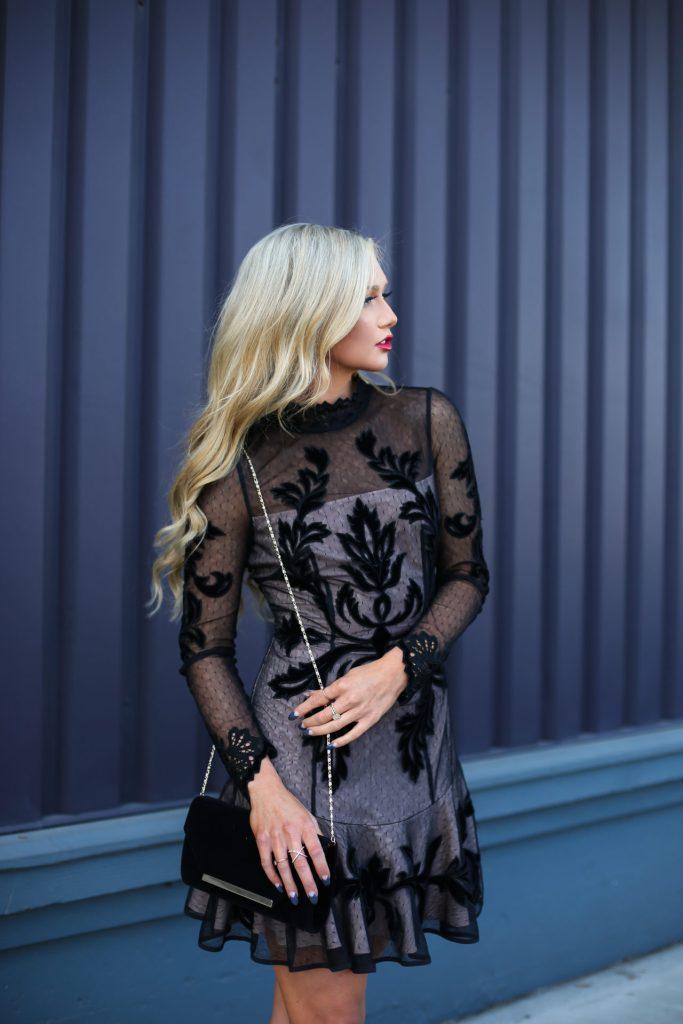 Stephanie-Danielle-TheCityBlonde-Black-Lace-Dress-6634